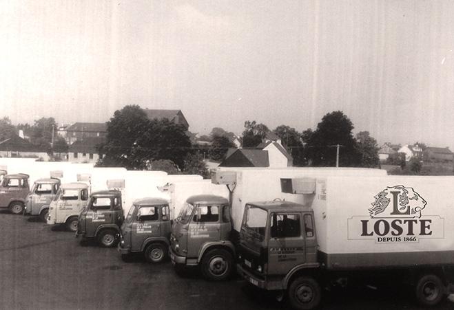 Loste Tradi France : les camions historiques